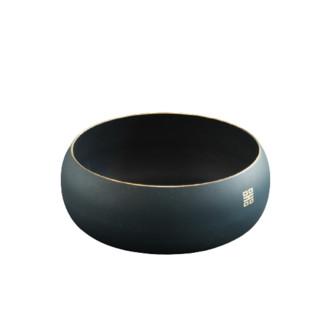 SUYI 素以 纯铜上彩水盂茶洗 1200ml