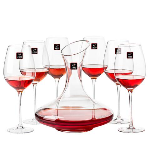 PLUS会员:RCOMS1950 红酒杯套装 6个高脚杯+1个醒酒器+8个配件