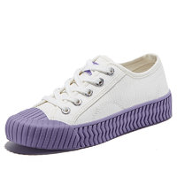 DaFuFeiyue 大孚飞跃 女子运动帆布鞋 DF/1-8379BC 白紫色 37