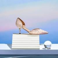 STACCATO/思加图 2020秋季新款仙女风ins潮水钻女细高跟单鞋公主鞋9NW29CK0