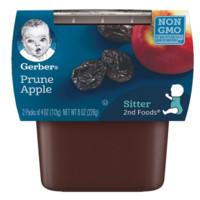 Gerber 嘉宝 果泥 美版 2段 苹果西梅味 113g*2罐