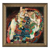 克里姆特油画《处女》背景墙装饰画挂画 典雅栗(偏金色) 61×59cm