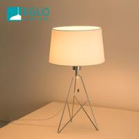 EGLO奧地利 北歐簡約鐵藝設計臺燈 臥室床頭燈 書房客廳裝飾燈 LED光源 39181