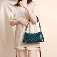 Kaiserdom/凯撒新款牛皮包单肩包菱格时尚女士包包女包
