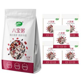 SHI YUE DAO TIAN 十月稻田 每日香粥 八宝粥 独立包装(150g*5袋  五谷杂粮米组合  粥米养生粥  混合杂粮)750g