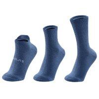 KAILAS 凱樂石 男子運動襪 KH2062102 藍色 M 三雙裝
