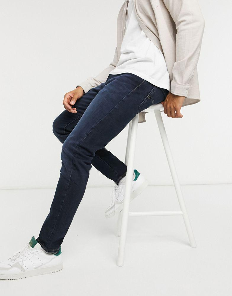 Levi's 512 slim tapered fit jeans in shake the boat advanced dark wash