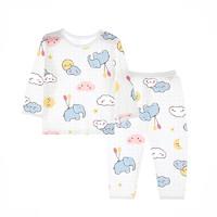 圓圓貓 S104 兒童家居服套裝 晚安大象藍 80cm