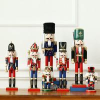 英國胡桃夾子木偶士兵擺件創意房間小擺設家居客廳酒柜圣誕裝飾品