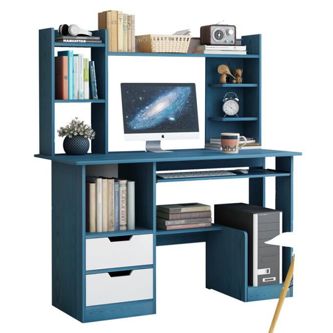 Doruik 德瑞克 简约电脑桌 120cm皎蓝木纹