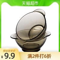 青蘋果法式家用玻璃碗1只裝 雙耳碗沙拉碗飯碗陶瓷碗歐式湯碗面碗