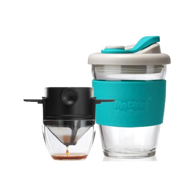 Le Bronte 朗特乐  咖啡具套装 双层滤网 托杯 MC 340ml 蓝色