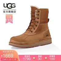 UGG 秋冬男士鞋子保暖時尚潮流英倫風可下翻長靴雪地靴 1098490 CHE  栗子棕色 41