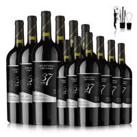 GREATWALL 长城葡萄酒 北纬37 精选 解百纳干红葡萄酒 750ml*12瓶