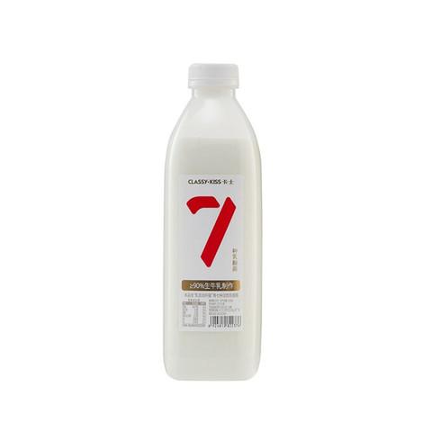 卡士 CLASSY.KISS 007家庭装酸奶1kg 原味  低温酸奶 风味发酵乳 *3件