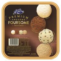 MUCHMOORE 玛琪摩尔 冰淇淋 muchmoore  四合一(香草+巧克力+海盐焦糖+曲奇糖豆) 2000ml *2件