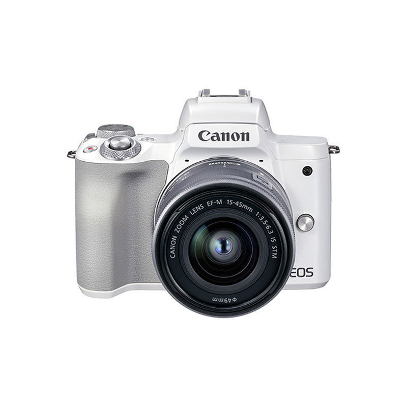 Canon 佳能 EOS M50 Mark II APS画幅微单单头套机 白色