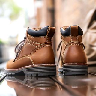 CAMEL 骆驼 男士牛皮工装鞋 A042329434