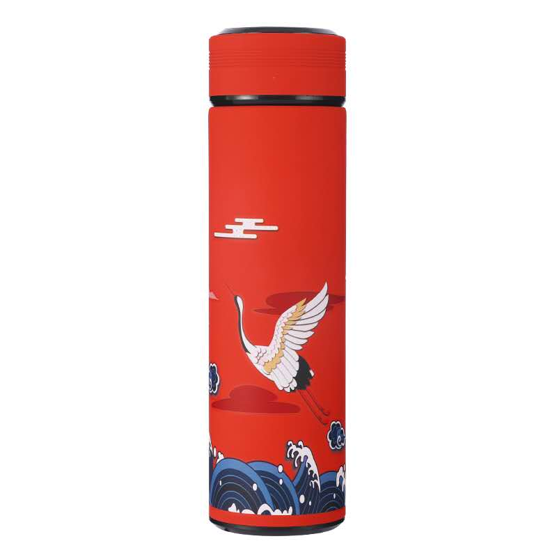 酷酷琪  中国风保温杯男女温度显示创意个性潮流国潮古风水杯子304不锈钢