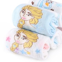 迪士尼儿童袜子春夏薄款网眼纯棉袜女童公主幼儿小孩宝宝中筒短袜 *2件