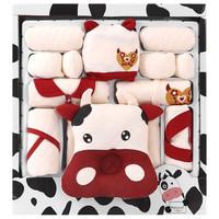 班杰威爾(BANJVALL)嬰兒衣服秋冬套裝禮盒初生新生兒衣服滿月禮包剛出生寶寶衣服用品 加厚咕嚕牛C款 0-6個月
