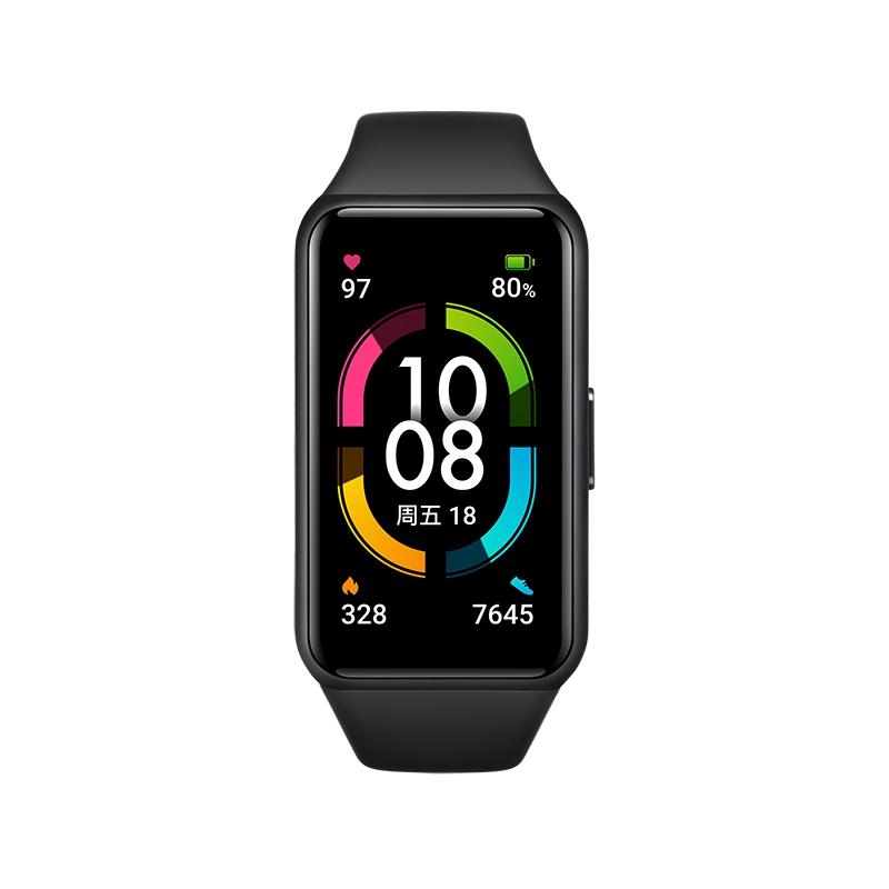 荣耀手环6 NFC血氧心率监测5代升级智能运动手表移动支付荣耀6手环表带腕带官方旗舰店