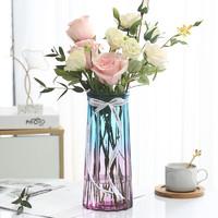 江萊 十二棱 玻璃花瓶 蘭/紫 大號