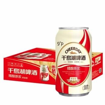 千島湖啤酒(CHEERDAY)原麦汁浓度 9° 精酿原浆啤酒 330ML*24听整箱 330ml*24听 整箱