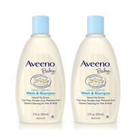 88VIP : Aveeno 艾维诺 婴儿燕麦沐浴露354ml 2瓶装 *4件