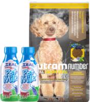 京东PLUS会员: utram 纽顿 T28小型犬鳟鱼配方犬粮 6kg +真致牛奶*2瓶