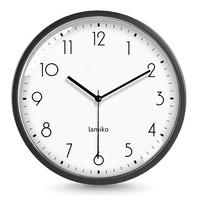LAMIKO 静音挂钟 黑色普通款 10英寸