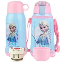 Disney 迪士尼 儿童双盖保温杯(含杯套)600ML *2件