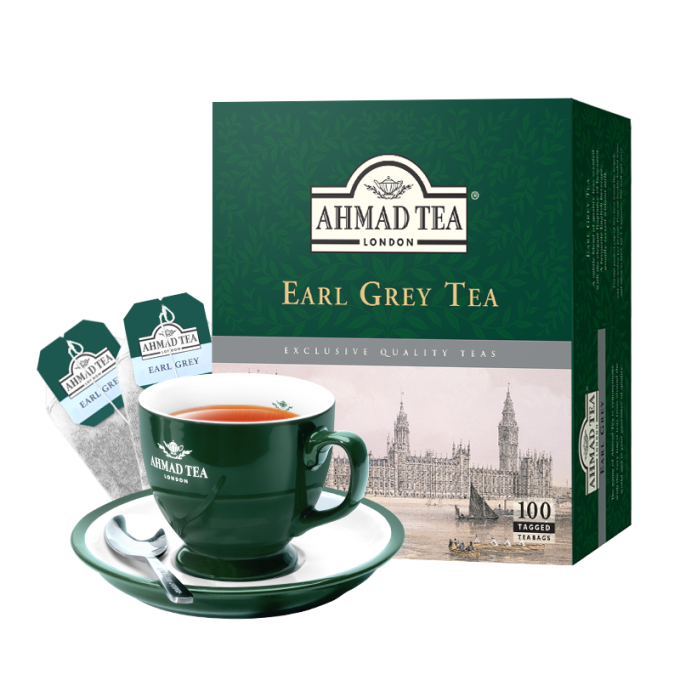 AHMAD TEA 英式格雷伯爵红茶  2g*100袋 *2件