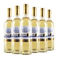 法國Roux家族原裝原瓶進口 黑艦干白葡萄酒12度婚慶送禮佳品750ml*6瓶