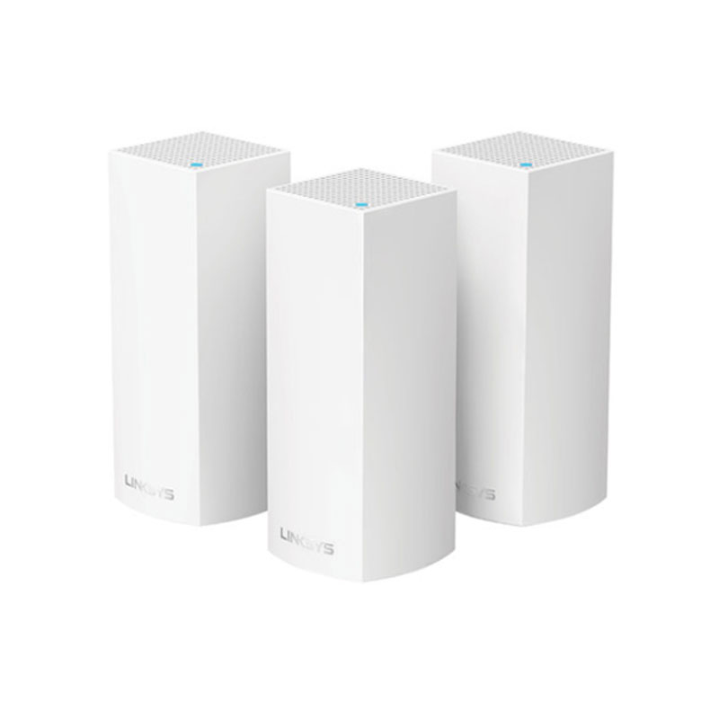 LINKSYS 领势 Velop WHW0303 1800M 三频 WiFi 6 分布式路由器 白色 三个装