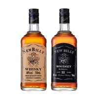 蘇格蘭工藝紐鉑利威士忌洋酒40度烈酒700ml 雙支黑黃杰克
