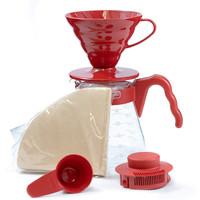 HARIO好璃奥 日本进口 咖啡壶滴滤式 手冲咖啡套装滤杯咖啡器具 VCSD-02R V60 精致礼物 *3件