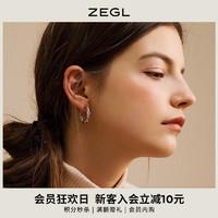 耳扣式耳環耳圈女氣質韓國簡約個性圓圈耳釘小圈圈耳飾2020新款潮