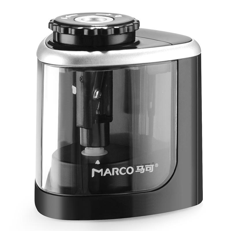 MARCO 马可 OP400203E 电动削笔刀 黑色 单个装