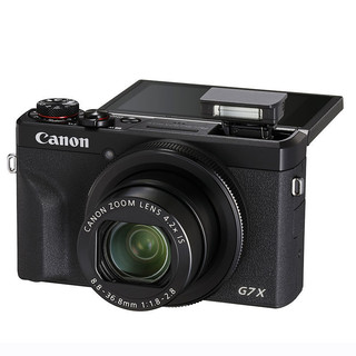 Canon 佳能 PowerShot G7 X Mark III 数码相机 黑色(8.8-36.8mm、f1.8/2.8)