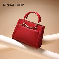 简佰格小众新娘女包红色结婚包包2021新款大容量妈妈手提包女婚包