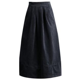 KOUBEILI 蔻贝莉  女士灯芯绒半身裙 QZ5099 灰色 S