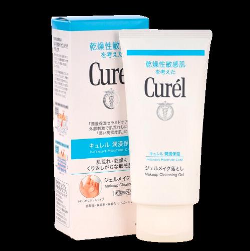 日本珂润(Curel)深层清洁卸妆啫喱卸妆乳卸妆水130g 温和不刺激 深层清洁 脸眼唇敏感肌可用 *3件