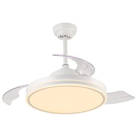 雷士照明NVC 美式北欧现代简约复古餐厅吊灯风扇灯吊扇灯隐形扇叶换气卧室客厅房间遥控大功率led灯具