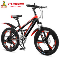 凤凰儿童自行车变速山地车18寸20寸22寸男女孩中小学生车6-10-12岁小孩单车脚踏车