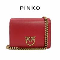 PINKO单肩包2021春夏JOLIE系列1P225S Y6XT女士牛皮链条小包 红色R43