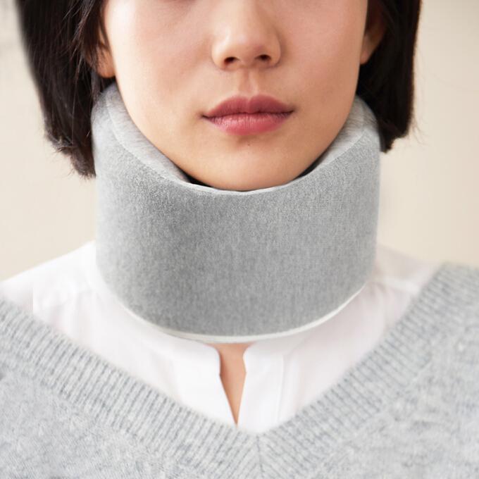 DAPU 护颈电加热保暖 中老年颈椎支撑缓解疲劳 快速加热 浅灰色