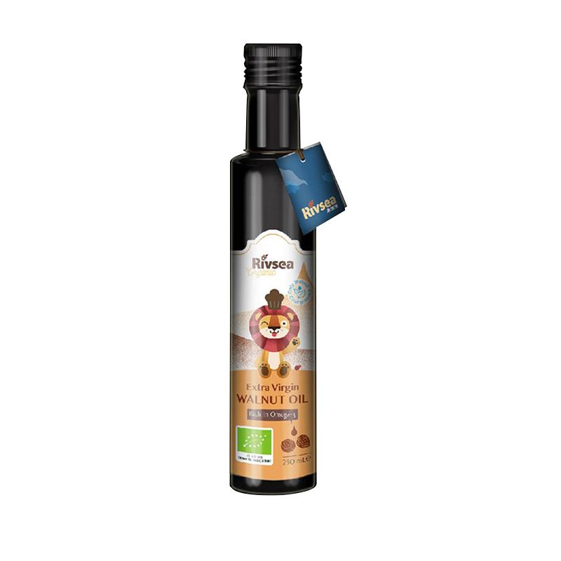 禾泱泱(Rivsea)特级初榨宝宝食用油热炒搭配营养辅食意大利进口欧盟有机 特级核桃油 250ml 孕婴食用油