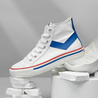 PONY波尼经典款复古高帮帆布鞋休闲男女情侣款耐磨运动鞋12M1SH31