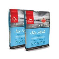 预售、考拉海购黑卡会员:orijen 渴望 六种鱼 无谷全阶段猫粮 5.4kg*2包
